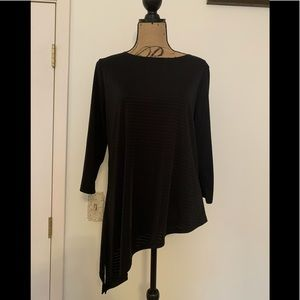 Chico's easywear black top size large